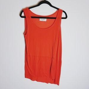 Zara basic tshirt sleeveless tank top tie front